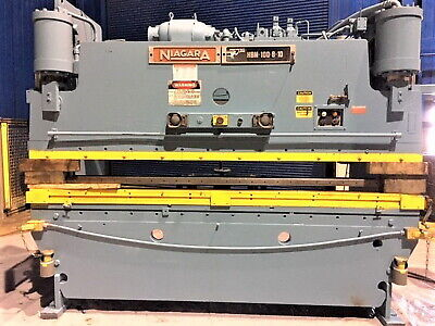 100 Ton x 10' Niagara CNC 2 Axis Hydraulic Press Brake  Metal Forming  Bending