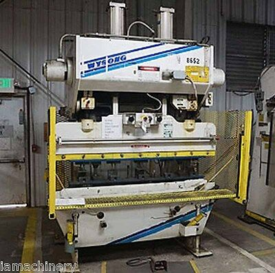 60 Ton x 6' Wysong Hydraulic Power Press Brake Sheet Metal Bender Former