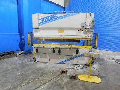 100 Ton x 10' Wysong THS10012 Hydraulic Press Brake Sheet Metal Bender Forming