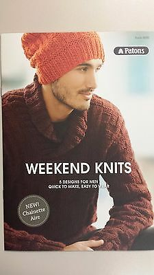 Patons Pattern Book #8020 Weekend Knits 5 Designs for Men Quick & Easy