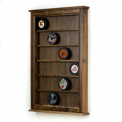Hockey Puck Display Case Cabinet