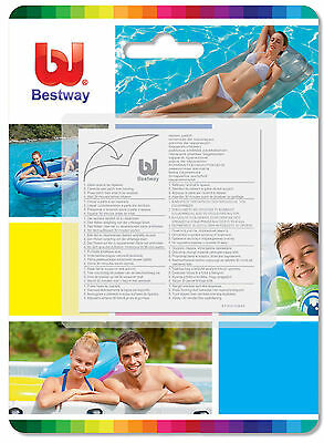 Bestway Heavy Duty Pvc Patches Repair Kit Inflatable Swimming Pool Airbeds Lilos
