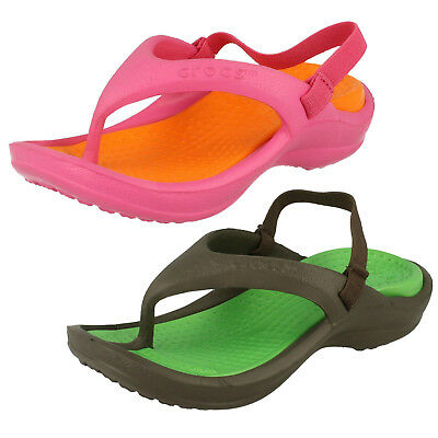 Kids ATHENS toe post with heel elasticated strap 2 colours available BY Crocs