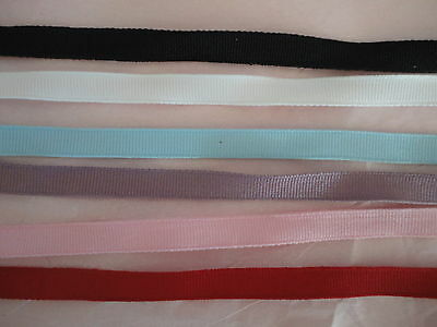 "1/4, 3/8"" Grosgrain Ribbon Solid Color roll of 25/50 Yards"