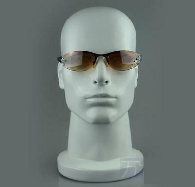 White Fiberglass Male Mannequin Head For Wig Hat And Glass Display