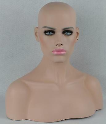 Fiberglass Dummy Mannequin Head Bust For Wig, Jewelry And Hat Display