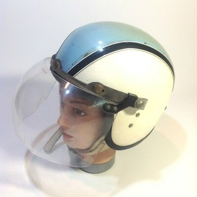 Vintage Stadium Project 4 Motorcycle Helmet with Bubble Visor