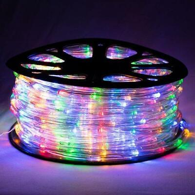 50m Multi-Coloured Rope Light Christmas Party Lights 8-Function SAA Approve Safe