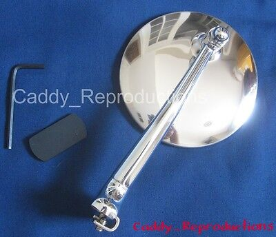 """1920 - 1949 Cadillac Driver OR Passenger Mirror One """"Peep Style"""""""