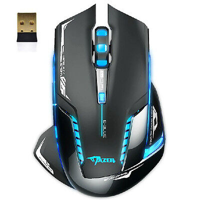 E-3lue 6D Mazer II 2500 DPI Blue LED 2.4GHz Wireless Gaming Mouse Hoc
