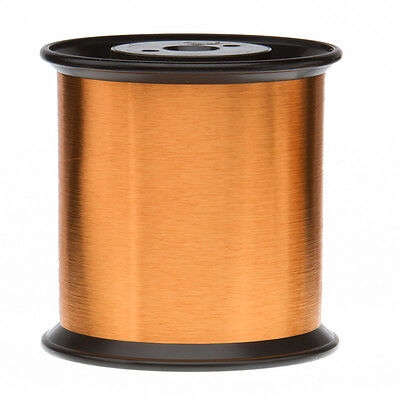 "42 AWG Gauge Heavy Formvar Copper Magnet Wire 5.0 lbs 0.0029"" 105C Amber MW-15-C"