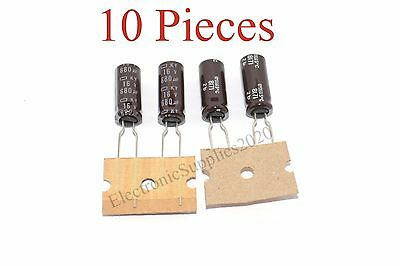 Radial US Seller 10 Pieces Capacitor Nippon 1500uF 16v 105C 10x20mm