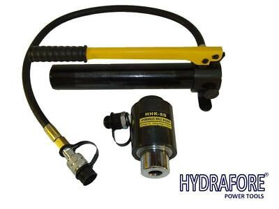 """Hydraulic Hole Punch Knockout Set 6 Dies Hand Pump(7/8"""" - 2 3/8"""", 11 tons) K-8D"""