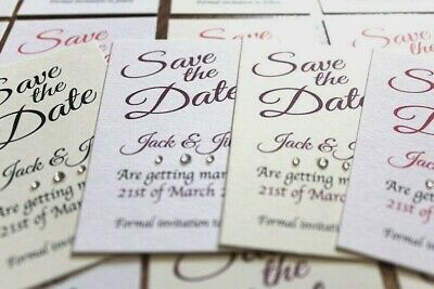 50 cards Personalised Magnetic Wedding Save the Date and envelopes