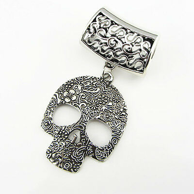 DIY Necklace Jewelry Scarf  skull pendant set Charms Fashion  @/16