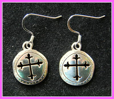 New BRIGHTON Sanctum Cross 'CANTERBURY' custom 925 earrings with FREE SHIPPING !