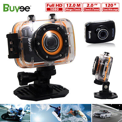 1080p Full HD Sport Action Helmet Camera Camcorder Touchscreen Waterproof 12MP