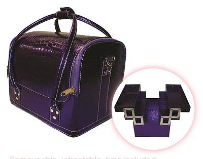 Hair Tools Professional Hairdressers Beauty Equipment Tool Case Zebra or Purple