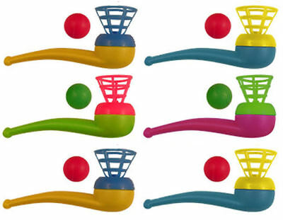 6 Blow Pipe & Balls - Pinata Toy Loot/Party Bag Fillers Wedding/Kids