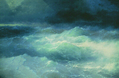 Ivan Aivazovsky Between The Waves Oil Painting Giclee Fine Art Canvas Print