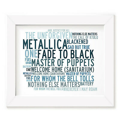 `Crystalline` METALLICA Art Print Typography Song Lyrics Signed Numbered Poster