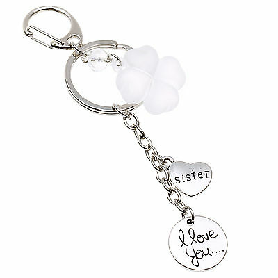 Trendy Love Heart Keychains I Love You To The moon and back with Aggreko Clover