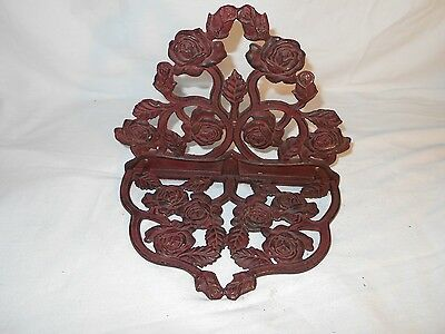 VINTAGE Collectible  Decorative Metal Wall Hanging  Shelf