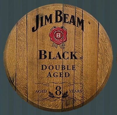 Jim Beam Black Double Aged  Licensed Authentic Barrel Head