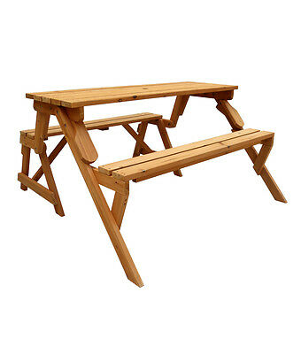 Leisure Season Convertible Picnic Table / Garden Bench (model FPTB7104)