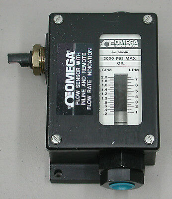 Omega Flow Sensor With Inline & Remote Flow Rate Indication - 3000 PSI Max Oil