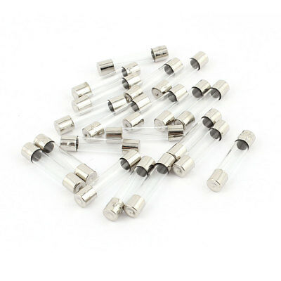 20pcs Quick Blow Low Breaking Capacity Cartridge Glass Tube Fuse 6x30mm 2A 250V