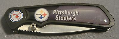 PITTSBURGH STEELERS ABSTRACT LOGO BLACK FOLDING POCKET KNIFE