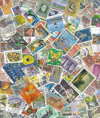 Foreign Stamp Mixture - 100+ All Different - Stock Photo - Saturday
