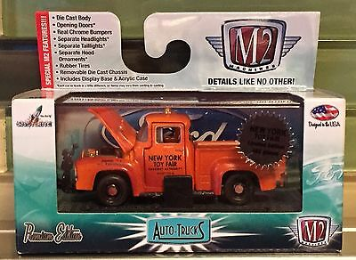 2015 New York Toy Fair NYTF M2 1956 Ford F-100 Snow Plow Auto-Trucks 1/492 NYFD