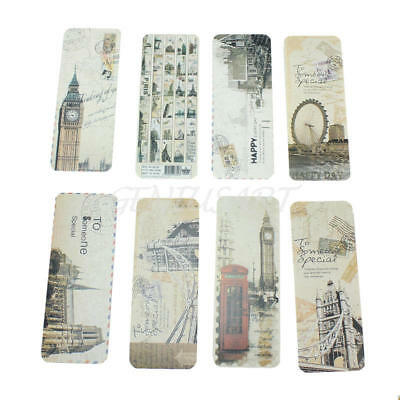 30x Vintage Eiffel Tower Bookmark European Scenes Book Marker Office Stationery
