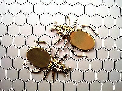 Raw Brass Beetle Setting Stampings (2) - RAT116 Jewelry Finding