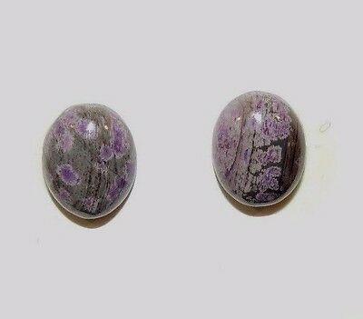 Sugilite Cabochons 10x8mm from South Africa set of 2 (8659)
