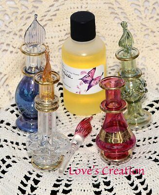 2 Inch Egyptian Perfume Bottle With 1 oz Free Perfume Oil-You Choose Scent!