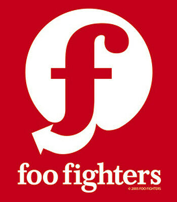 Foo Fighters - Red & White Logo Sticker