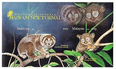 Malaysia Stamps 2008 Nocturnal animals imperforate souvenir sheet / MNH