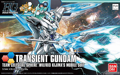 Bandai HG 1/144 Scale TRANSIENT GUNDAM Build Fighters Try Model Kit New