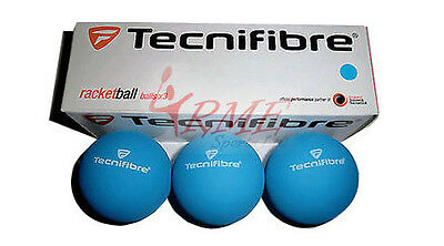 Tecnifibre Blue Racquetball Balls (Box of 3)