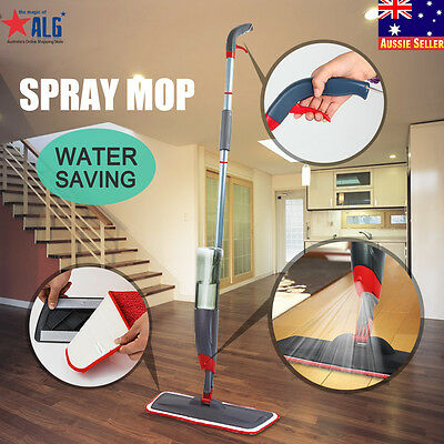Spray Microfiber Flat Mop Cleaner Household Floor Bath Kitchen Sweeper Broom