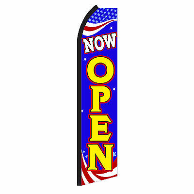 NOW OPEN  Advertising Flutter Feather Sign Swooper Banner Flag Only Special SA