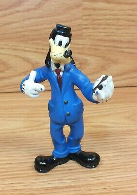 "Disney Goofy In Business Suit Holding Watch 4"" Tall Action Figure Toy **READ**"