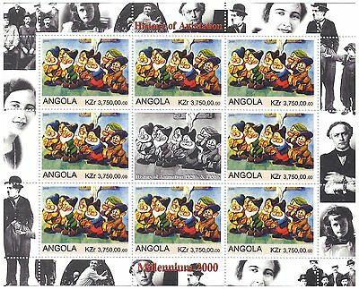 History of Animation Snow White 7 Dwarfs / MNH Stamps 2000