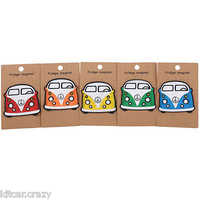 Novelty  Split Screen Camper Van Rubber Fridge Magnet Various Colours,