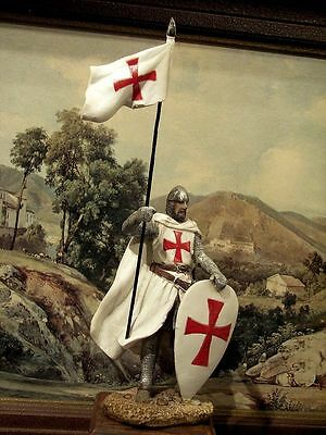 Hand Painted Medieval Crusader Knight  Figure  Realistic Perfect Gift 15 cm/6""