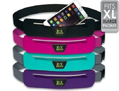 Amphipod Airflow Microstretch Plus Belt, XL No-Bounce Waistpack-Assorted Colors