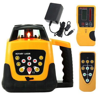 500m Range Automatic Self-Leveling Rotary Rotating Red Laser Level Kit w/case